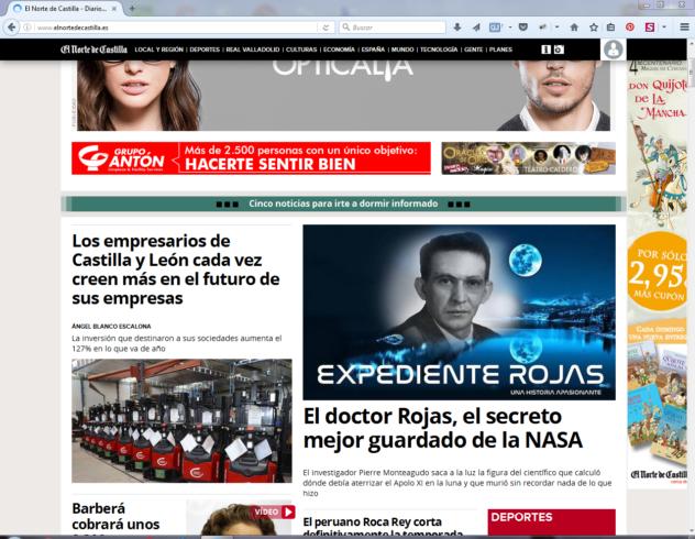 Noticia en El Norte de Castilla
