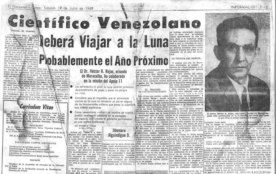 Científico-Venezolano-Deberá-Viajar-Luna-Nacional-Caracas-19-JULIO-1969